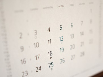 practices calendar